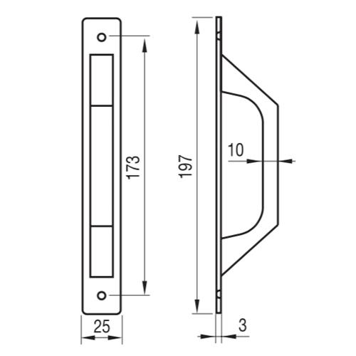 Tirador Aluminio