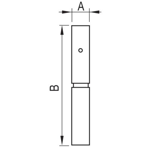 Pernio con Rodamiento Axial. Zincado