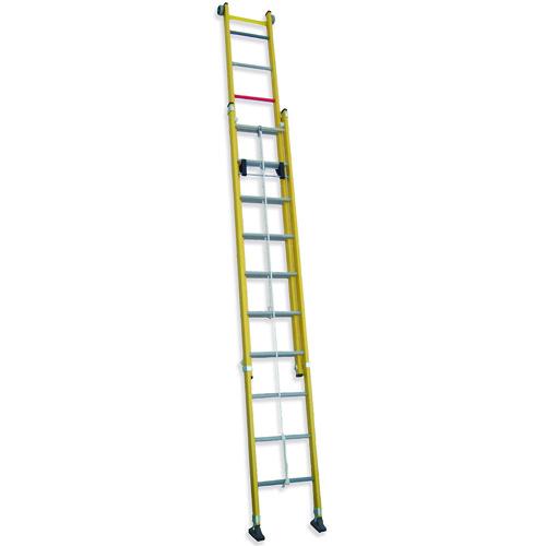 TRF2C - Escalera Doble Extensión con Cuerda (Todo Fibra)